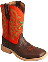 Twisted X Boys and Green Hooey Cowboy Boot Square Toe - Yhy0007
