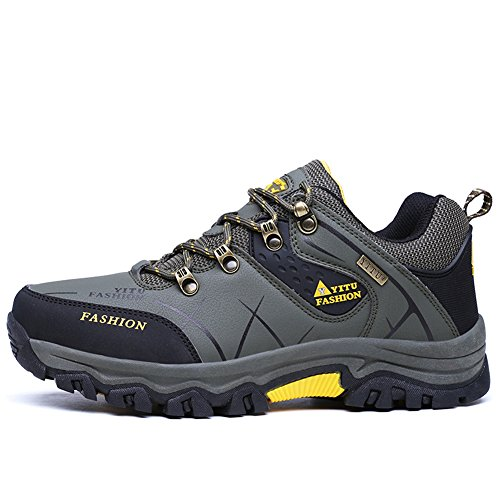 Water Daily Outdoor Camping Boots Casual Plus Ankle Army Shoes Walking Hiking Shoes Sport Snow for Men Sneaker Size Green for 7ZdOCqX