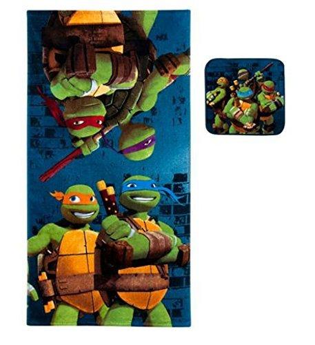 Teenage Mutant Ninja Turtles 2 piezas Toalla de baño y una ...
