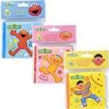Sesame Street Bath Time Bubble Book (Set of 3 Books) Zoe, Elmo, and Ernie.