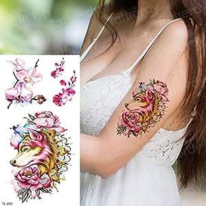 tatuaje chicas mujeres tatuaje pluma pájaros acuarela calcomanía ...
