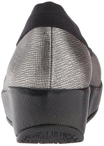 Anthracitesilver Bobi Chiusa Tacco Scarpe col Black Fly London Donna Argento Punta azqH6