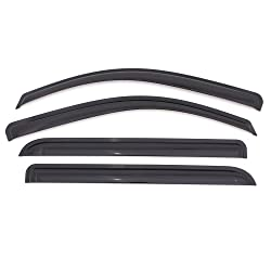 ICBEAMER 4 pcs Side Window Visors Front Rear Deflectors for 2007-09 Acura MDX 4 Doors Sedan Vent Visor Sun/Rain Guard