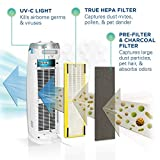 Germ Guardian True HEPA Filter Air Purifier with UV Light Sanitizer, Eliminates Germs, Filters Allergies, Pollen, Smoke, Dust, Pet Dander,Mold,Odors,Quiet 22in 4-in-1 Air Purifier for Home AC4825W2PK