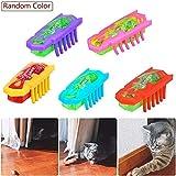 Electric Teasing Cat Toys, Pawaca Mini Robotic Bug Interactive Cat Toys, Fast Moving