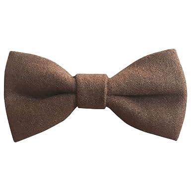 DB Dickie Bow Pajarita de lana elástica para niños, color marrón ...