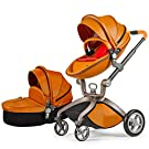 Baby Stroller 2016, Hot Mom 3 in 1 travel system and Bassinet Combo,Brown