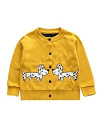 Pollyhb Baby Sweater, Toddler Baby Boys Girls Little Dog Print Cardigan Knit Coat