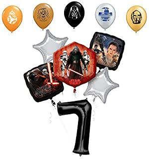 Amazon.com: Star Wars 9th Birthday Party Supplies globo de ...