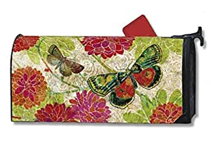 Theobaldjordan Boutique Butterflies Magnetic Mailbox Cover Magnetic Mail Box Wrap Yard Garden Decor 17.25 X 20.75 Inches
