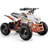 Titan Outdoor Kids Children 24V White Mini Quad ATV Dirt Motor Bike Electric Battery Powered