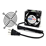 80mm ac infinity - AC Infinity HS8038A-X Standard Cooling Fan, 115V AC 80mm by 80mm by 38mm High Speed