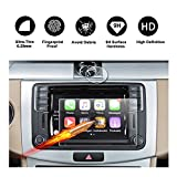 2016 2017 Volkswagen VW cc 6.3'' Composition Media & 39mm Watch Touch Screen Car Display Navigation Screen Protector, R RUIYA HD Clear TEMPERED GLASS Protective Film