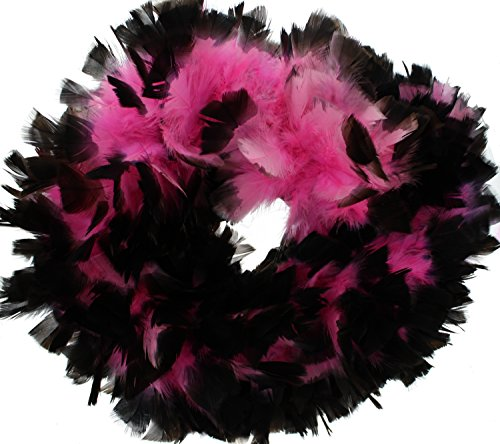 Zac's Alter Ego® Women's Vibrant Two Tone Heavy Feather Boas 1.8M Black/Pink