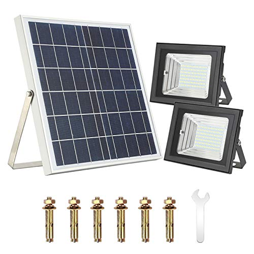 Solar Flood Light with Remote Control,Moresun 18W Dual 126 LEDs Lamp Solar Powered Flood Lights for Flag Pole Garden Lawn Patio Sign Driveway,Auto ON/Off by Moresun (Image #6)