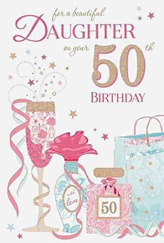 Cards Galore Online Hija 50th Tarjeta de cumpleaños ...