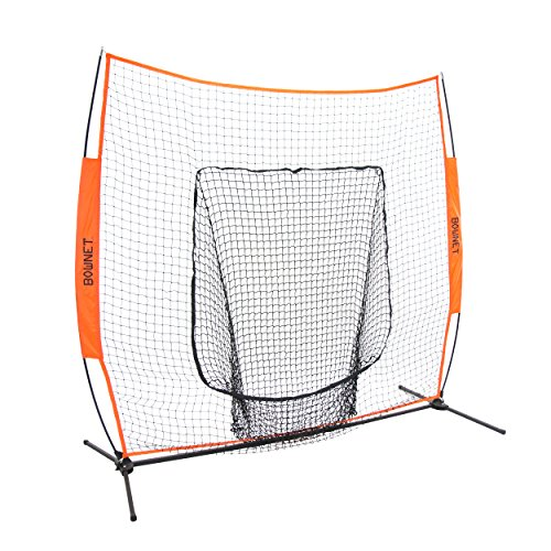 - Bownet 7' x 7' Big Mouth X - Portable Sock Net for Baseball and Softball Hitting and Pitching