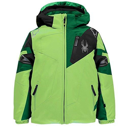 - Spyder Boys Mini Leader Jacket, Size 6, Bryte Green/Jungle/Black