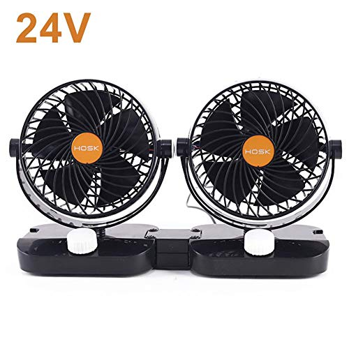 Curve Universal Usb - Car Fan, 12V 24V Truck Double Head Shaking 6 Inch USB Small Electric Fan Truck Universal Cooling Powerful Wind Fan Cooler Fan