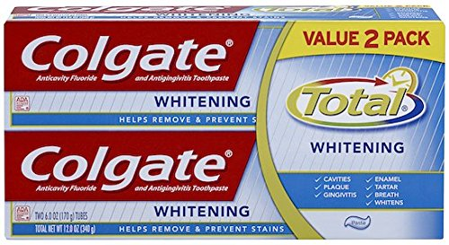 Colgate Total Whitening Toothpaste Twin Pack (6oz Tubes Each)
