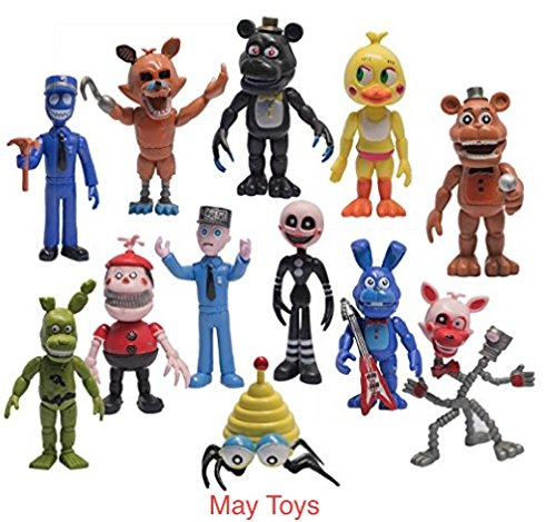 -Fnaf Five Nights at Freddy's Action Figures Toys Dolls by May Toys