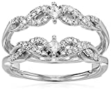 14k-White-Gold-Diamond-Solitaire-Enhancer-Ring-12cttw-I-Color-I2-Clarity-Size-8