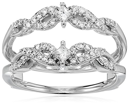 nd Solitaire Enhancer Ring (1/2cttw, I Color, I2 Clarity), Size 8 (Diamond Solitaire Enhancers)