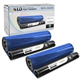 LD Compatible Thermal Fax Ribbon Refill Roll Replacement for Sharp UX-15CR (Black, 2-Pack)