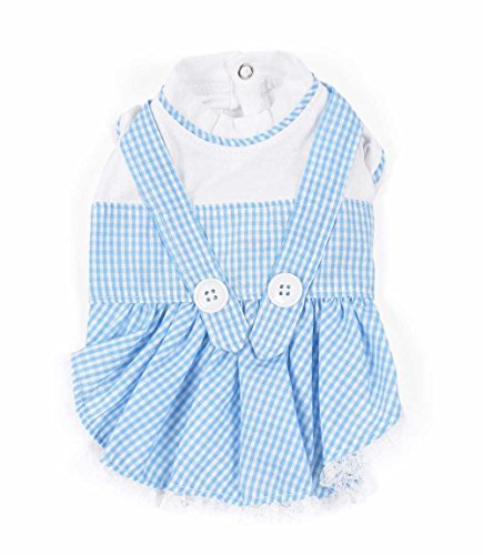 The Wizard Of Oz Dorothy Dog Costumes (Dorothy (Oz) Deluxe Gingham Dress Costume for Dogs by Puppe Love (Size 5 (14