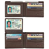 is equipped with an advanced - Wallet for men,RFID Blocking Cowhide Leather Bifold Wallet for Men with 2 ID Windows(Sheepskin Coffee)