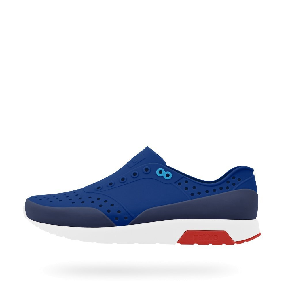 native Shoes Unisex Lennox UV Blue/Shell White/Torch Red/Regatta Block 11 B(M) US Women/9 D(M) US Men
