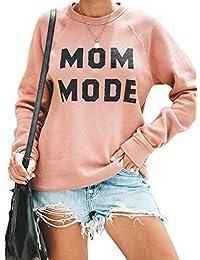 Womens Crewneck Sweatshirt Long Sleeve Raglan Letter Print Terry Casual Cute Pullover Top