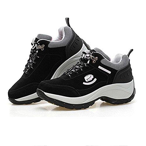 Grueso De Que Muchachas Las Aire Deportes Impermeables del Señoras Ocio Aumentan Los De Zapatos Los Negro Algodón Los Agregan Zapatos Los Caminan Al Zapatos Caminan Las Que Libre del x00npAzwqX