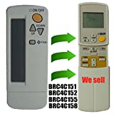 Generic Replacement Daikin Window Wall Mounted Portable Air Conditioner Remote Control Compatible for Remote Control Model Number Brc4c151 Brc4c152 Brc4c155 Brc4c158 by Generic