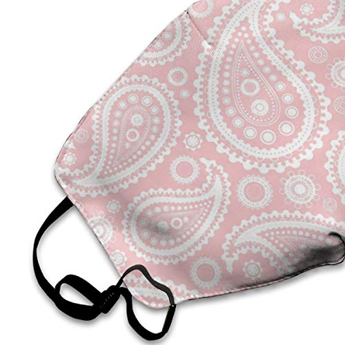 Dust Mouth Mask Paisley Pink - Reusable Face Mask Adjustable Earloop Anti-Dust Mask
