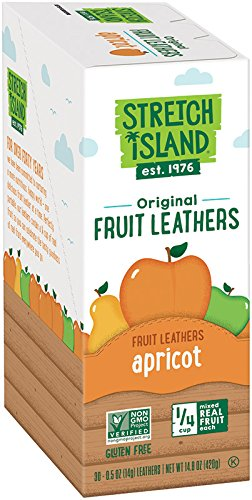 Fruit Leather - Stretch Island Original Fruit Leather, Apricot, 0.5-Ounce Strips (Pack of 30)