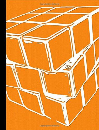 Orange Puzzle Cube Hexagon Graph Paper Composition Book: 200 pages, 1/4 Inch hexagon graph paper ebook