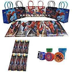 Marvel Spider Man party favor set pack w/coloring book (42pcs)