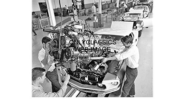 1969 FORD ASSEMBLY LINE PHOTO BOSS MUSTANG 429 V-8 HOT ROD GT LINEUP AUTOMOBILIA