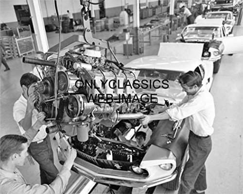 OnlyClassics 1969 Ford Assembly LINE Photo BOSS Mustang 429 V-8 HOT Rod GT Lineup AUTOMOBILIA