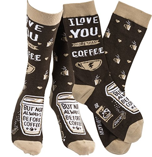 Humorous Quote Socks Unisex One Size Primitives by Kathy,Coffee,One Size Fits Most
