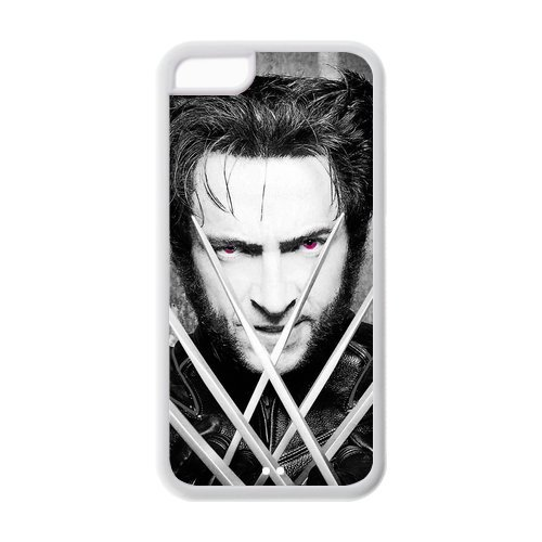 Custome Movie¡°Wolverine¡±Actor Hugh Jackman Superstar Handsome Man Phone Case Apple iPhone 5c(cheap iphone5c) TPU Shell Case Cover-VC-2013-01169 for $<!---->