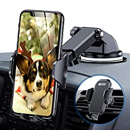 andobil [Upgraded] Car Phone Holder, 3 in 1 Phone Holder 360° Rotation for Air Vent Dashboard Windshield, Car Phone…