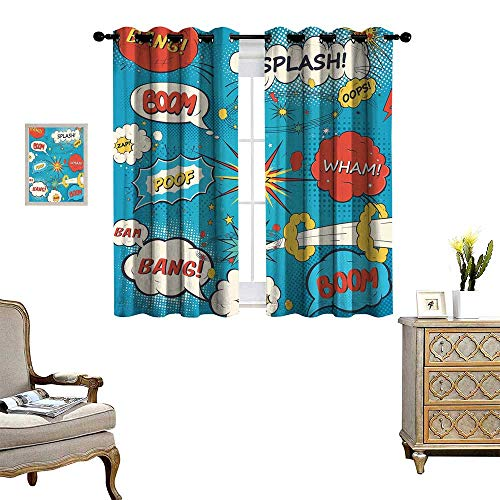 Used, homehot Superhero Waterproof Window Curtain Pop Art for sale  Delivered anywhere in USA