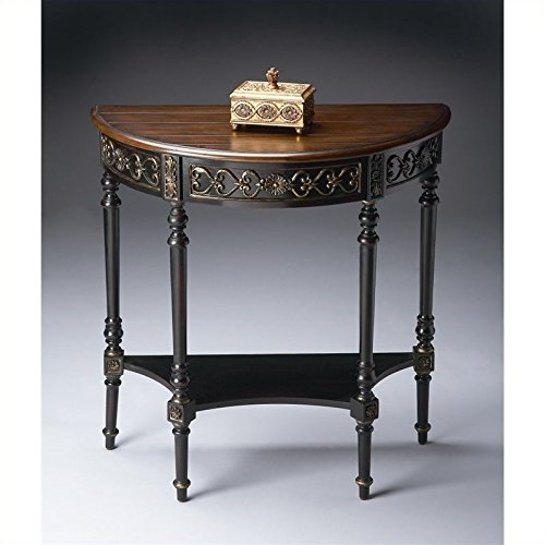 (Butler Specialty Demilune Console Table in Cafe)