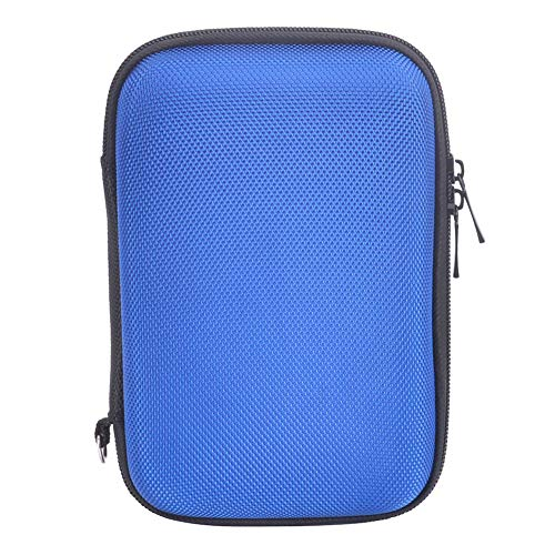 Hard Travel Carrying Case for Seagate Expansion,Backup Plus Slim,WD Elements,My Passport,Toshiba Canvio Basics Portable External Hard Drive,Electronics Organizer (Blue) by Natiker (Image #3)
