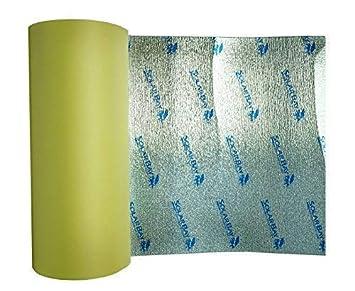 15 x 1.05m Self Adhesive Thermal Acoustic Foam Insulation Underlay Caravan Van