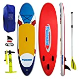 """Primewave Inflatable Stand Up Paddle Board 10' Long 33"""" Wide 6"""" Thick Military"""