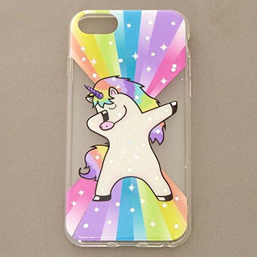 the latest 734a8 c7894 Claire's Girl's Rainbow Rock Star Dabbing Unicorn Phone Case ...