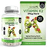 Vitamin K2 200ug (MK7) 90 Time Release Pearls by Nutravita